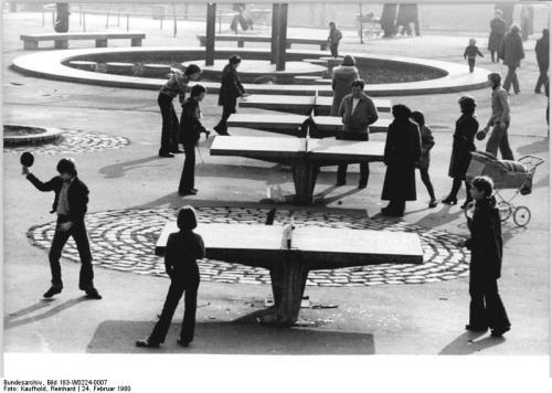 Berlin, Volkspark Friedrichshain, Tischtennis